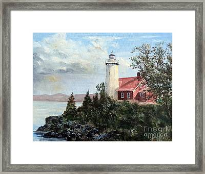 Eagle Harbor Light Framed Print