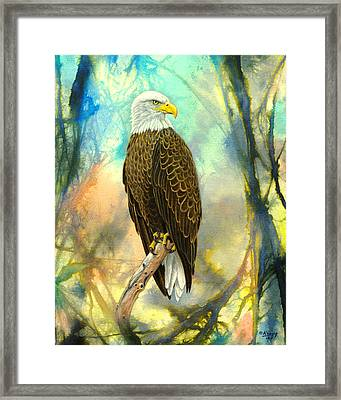 Eagle In Abstract Framed Print by Paul Krapf