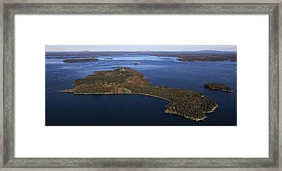 Eagle Island, Penobscot Bay Framed Print by Dave Cleaveland