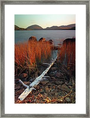 Eagle Lake At Autumn Framed Print by Juergen Roth