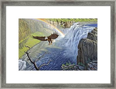Eagle-mesa Falls Framed Print by Paul Krapf