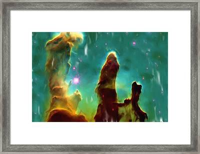 Eagle Nebula 2 Framed Print by Ayse Deniz