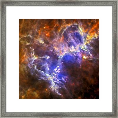 Eagle Nebula Framed Print by Adam Romanowicz