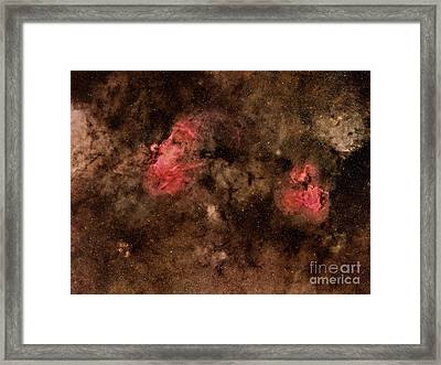 Eagle Nebula And Swan Nebula Framed Print