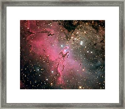 Eagle Nebula (m16) Framed Print by Damian Peach