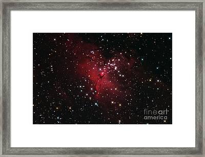 Eagle Nebulai M16 In Serpens Framed Print by John Chumack