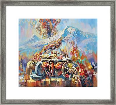 Eagle Of Zvartnots Framed Print by Meruzhan Khachatryan