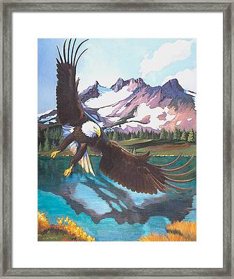 Eagle Oregon Lake Framed Print