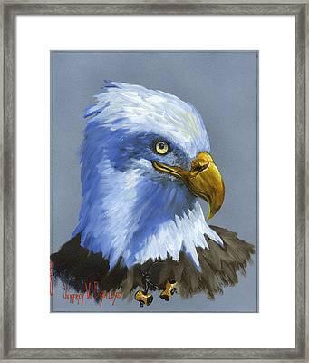 Eagle Patrol Framed Print by Jeff Brimley