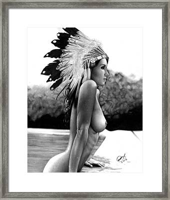 Eagle Framed Print by Pete Tapang