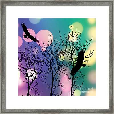 Framed Print featuring the digital art Eagle Rebirth Light by Kim Prowse
