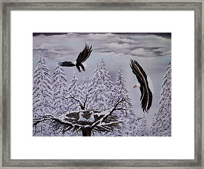 Eagle Family Majestry Framed Print