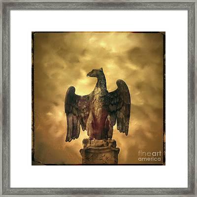 Eagle Sculpture Framed Print by Bernard Jaubert