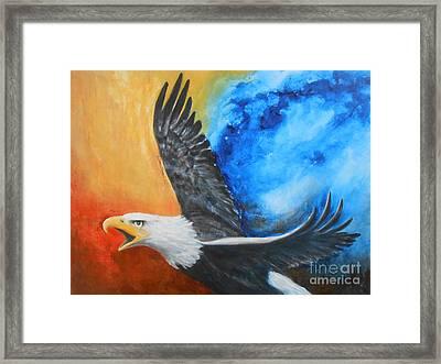Eagle Spirit - Arise And Assert Framed Print