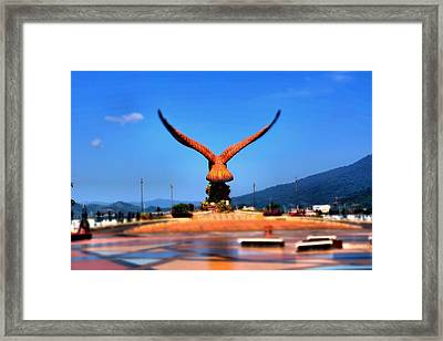Eagle Statue At Langkawi. Framed Print