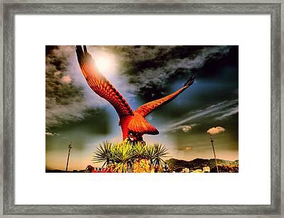 Eagle Statue. Framed Print