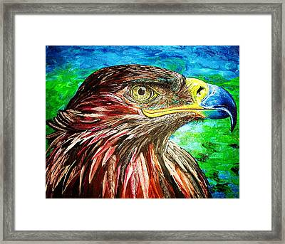 Framed Print featuring the painting Eagle by Viktor Lazarev