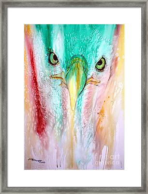 Eagle Vision Framed Print by Tracy Rose Moyers