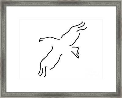 Eagle Bird Framed Print by Lineamentum