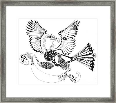Eagle With A Banner Framed Print