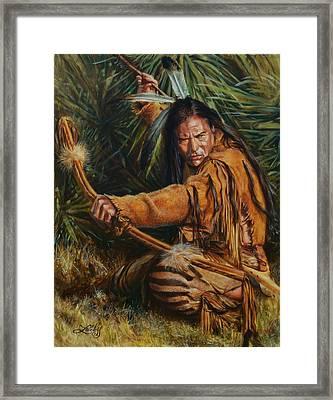 Eagle Wolf Framed Print by James Loveless
