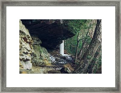 Eaglefalls Trail In Winter Framed Print