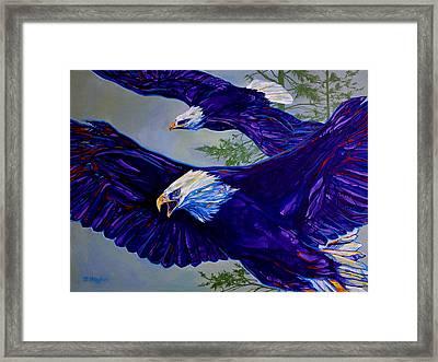 Eagles  Framed Print by Derrick Higgins