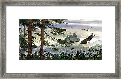 Eagles Flight Framed Print by James Williamson