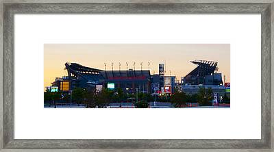 Eagles Football At The Linc Framed Print