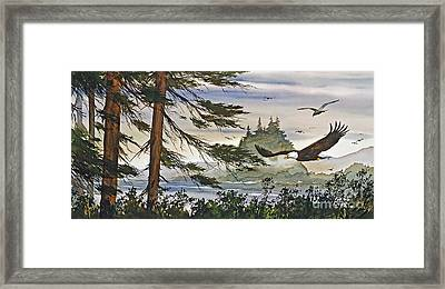 Eagles Majestic Flight Framed Print by James Williamson