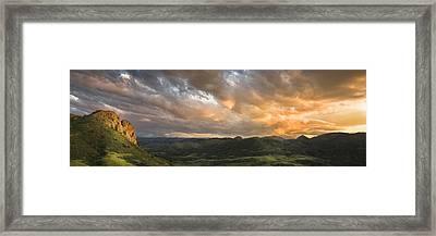 Eagles Nest Framed Print by Michael Van Beber