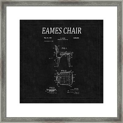 Eames Chair Patent 2 Framed Print