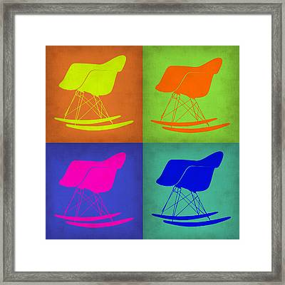 Eames Rocking Chair Pop Art 1 Framed Print by Naxart Studio
