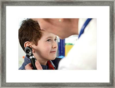 Ear Examination Framed Print by Tek Image