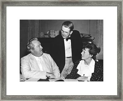Earhart Appears Before Senate Framed Print by Underwood Archives
