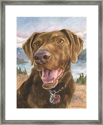 Earl Framed Print by Anne Gifford
