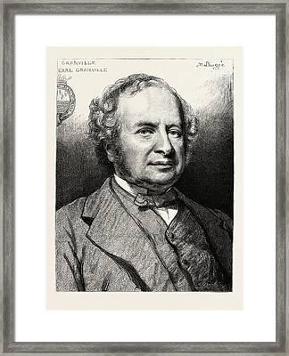 Earl Granville, K.g Framed Print by English School