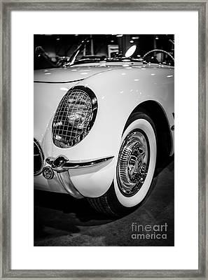 Early 1950's Chevrolet Corvette Framed Print by Paul Velgos