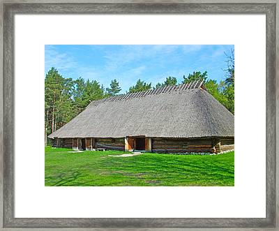 Early 19th Century Farmhouse And Barn In Rocca Al Mare Open Air Museum-estonia Framed Print by Ruth Hager