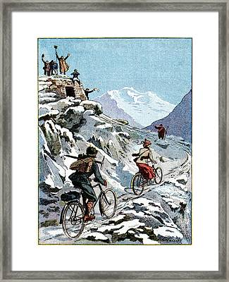 Early 20th Century Bike Advert Framed Print by Cci Archives