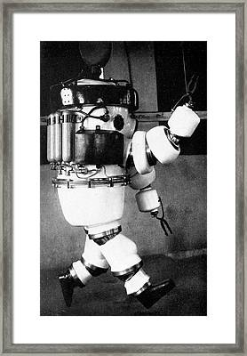 Early 20th Century Diving Suit Framed Print by Cci Archives