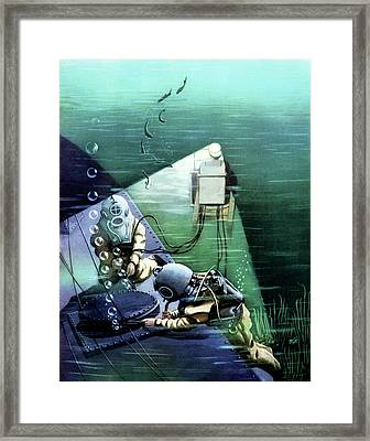 Early 20th Century Marine Divers Framed Print by Cci Archives