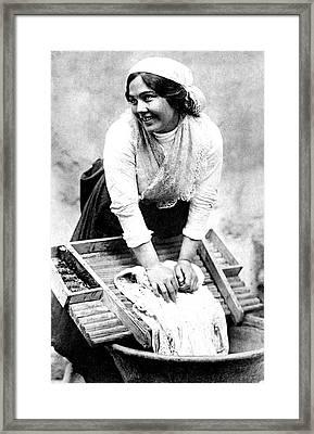 Early 20th Century Washerwoman Framed Print