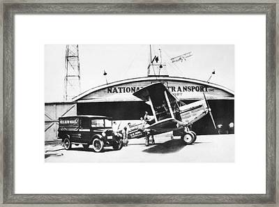 Early Air Mail Service Framed Print