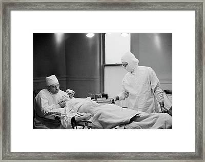 Early Anaesthesia Framed Print