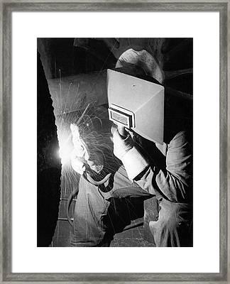 Early Arc Welder Framed Print