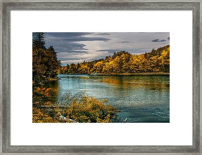 Early Autumn Along The Androscoggin River Framed Print by Bob Orsillo