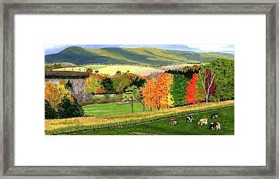 Early Autumn At Bear Meadows Farm Framed Print