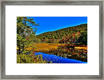 Early Autumn At Cary Lake Framed Print