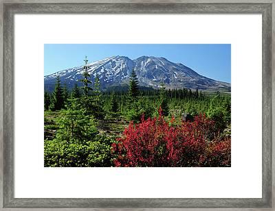 Early Autumn, Lahar, Mount St Framed Print